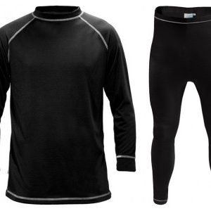 Manbi Kids SupaTherm 2 Piece Black Thermal Set